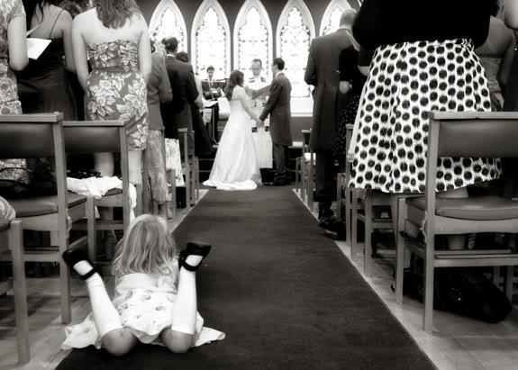Watching the wedding