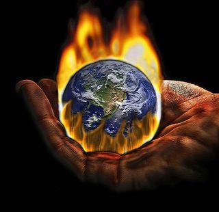 Global-warming hand
