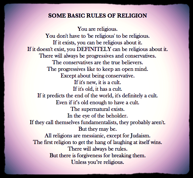 Basic Rules of Religion